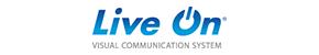 ロゴ:ライブオン ビジュアルコミュニケーションシステム